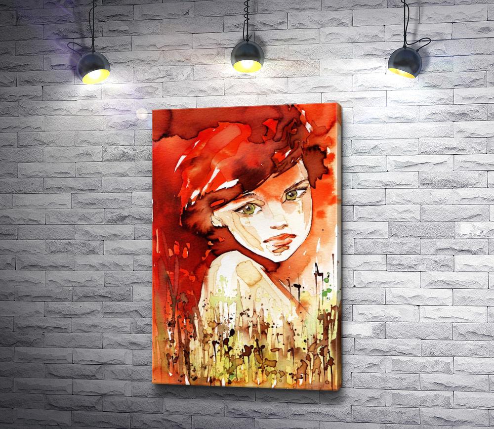"""Картина """"Девушка с красными волосами """""""