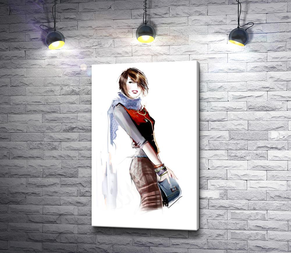 """Картина """"Стильно одетая девушка"""""""