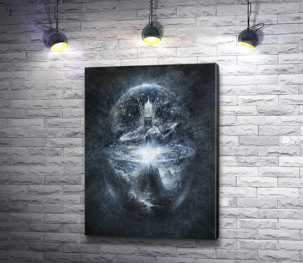 "Картина ""Божество внутри сияющего шара """