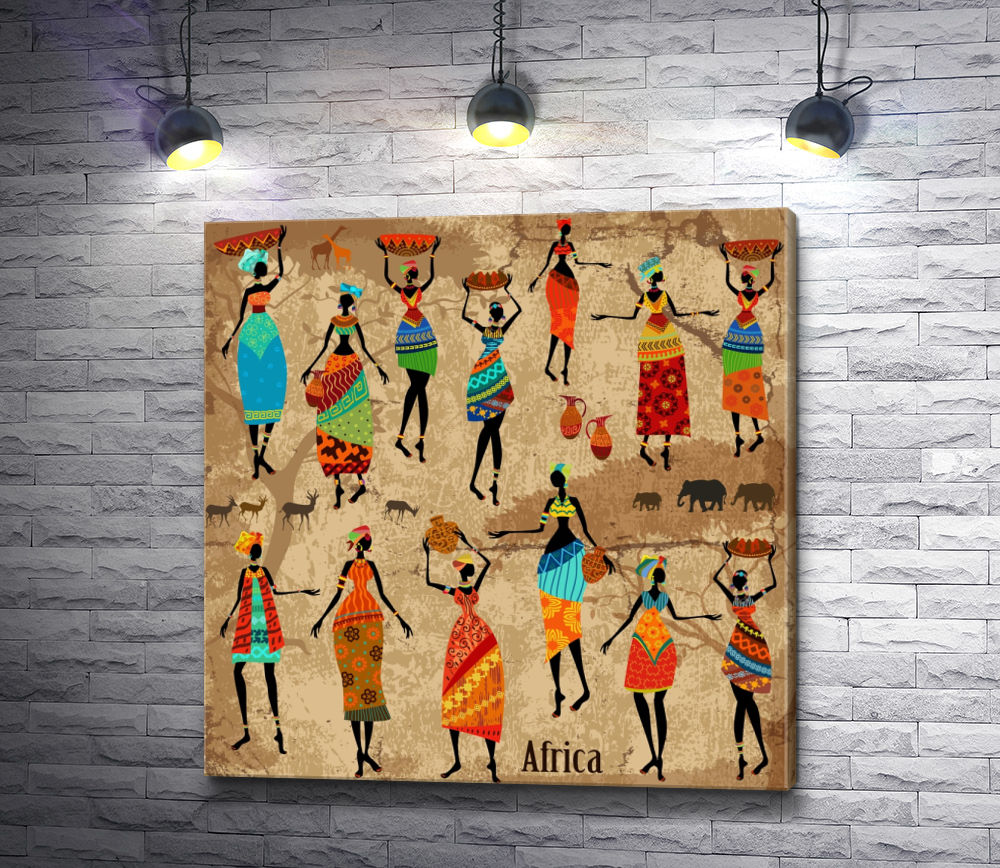 """Картина """"Африканские женщины """""""