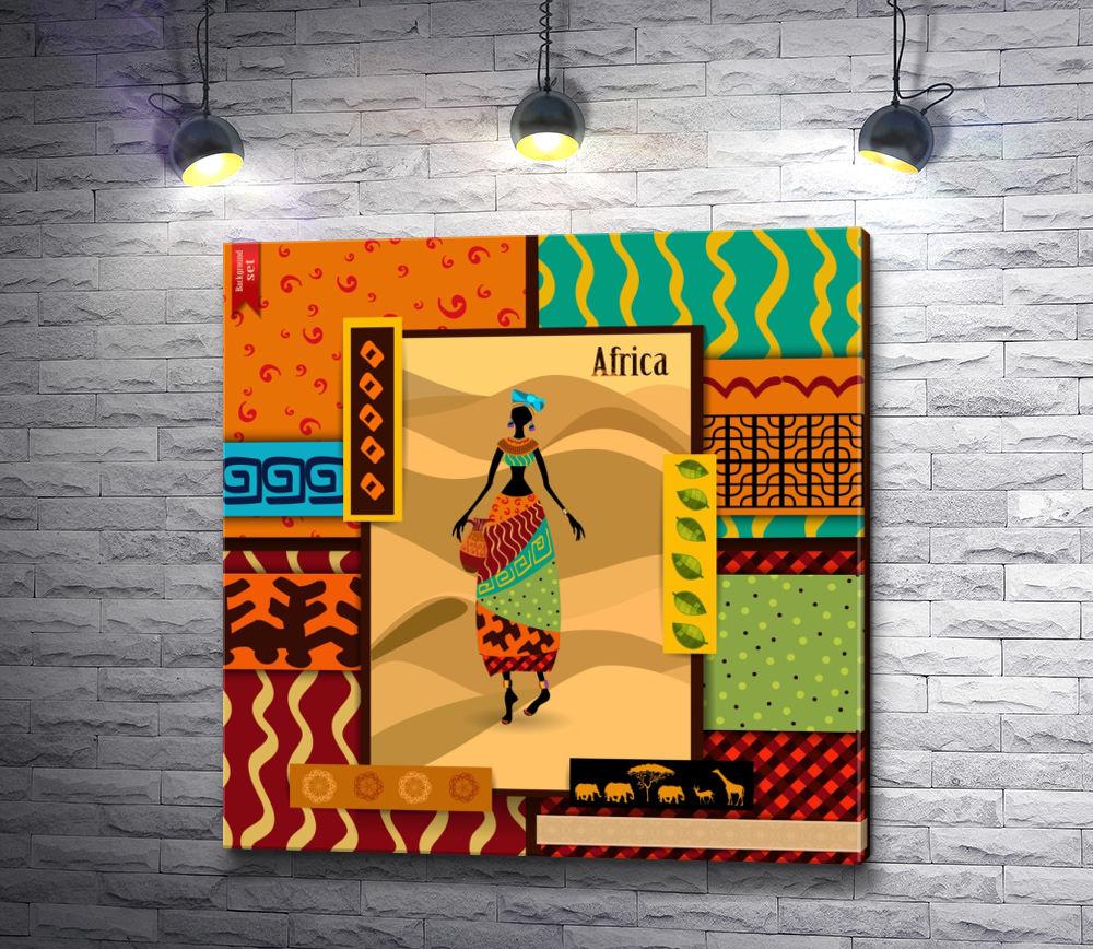 """Картина """"Этнические женщина с вазой"""""""