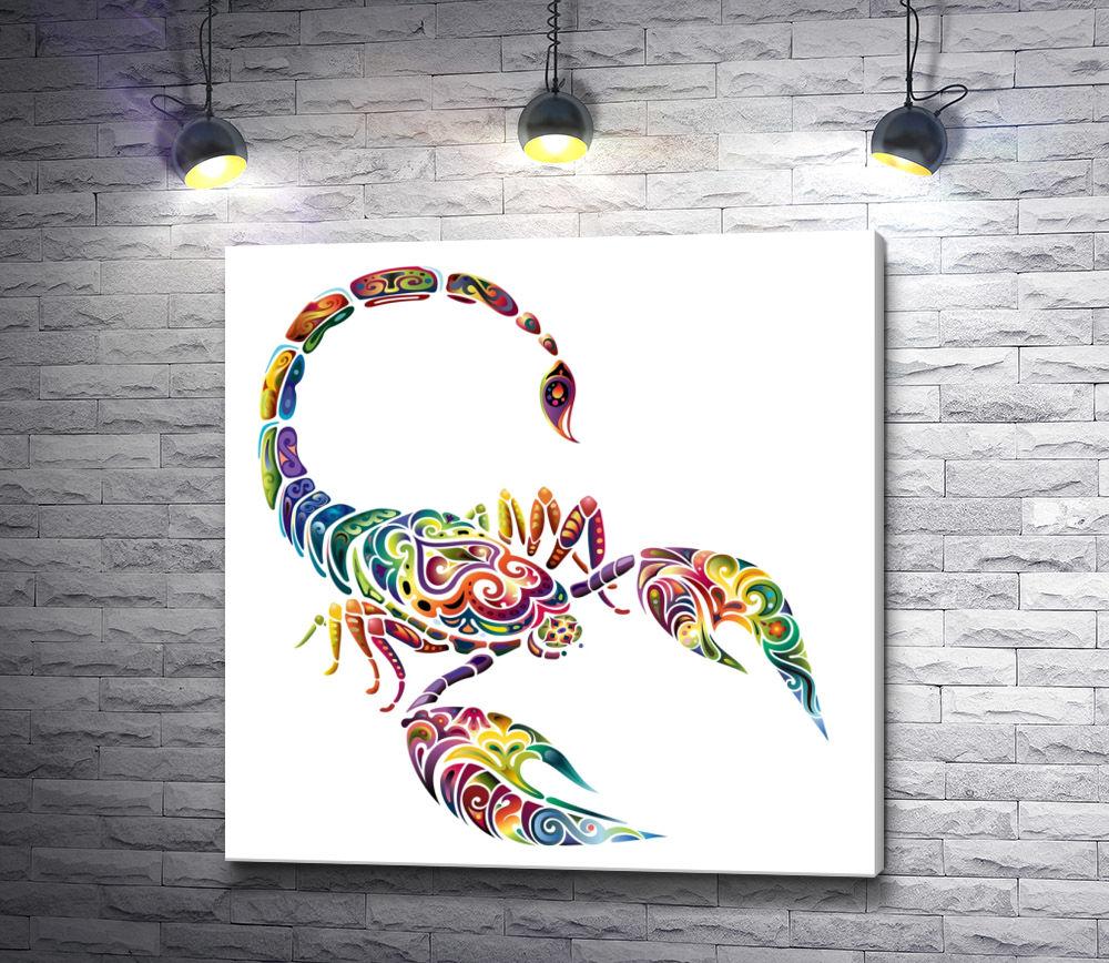 """Картина """"Разноцветный скорпион """""""