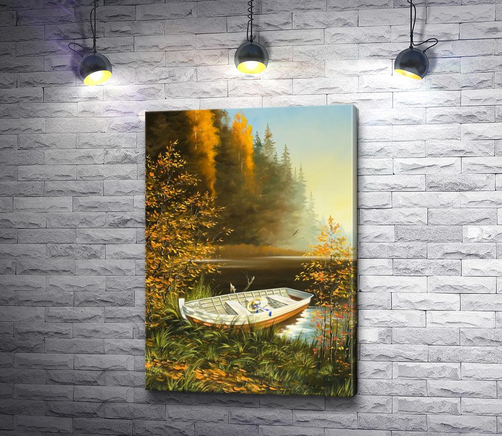 """Картина """"Лодка,  причаленная к берегу """""""