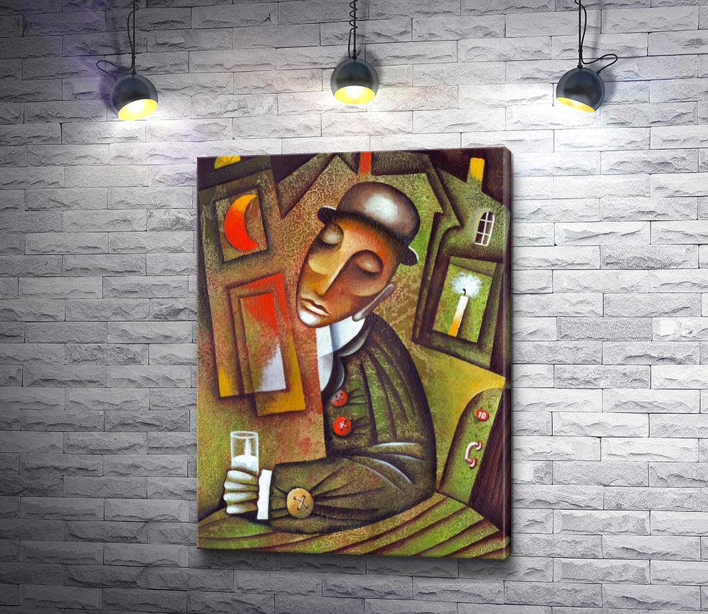 """Картина """"Мужчина со стаканом """""""