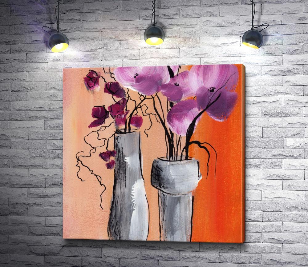 """Картина """"Орхидеи в вазе"""""""