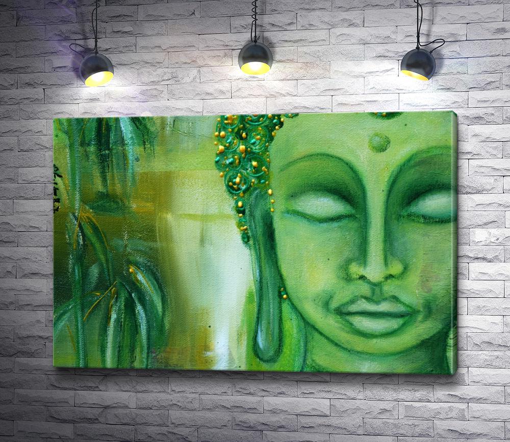 "Картина ""Зеленый цвет стороны Будды """