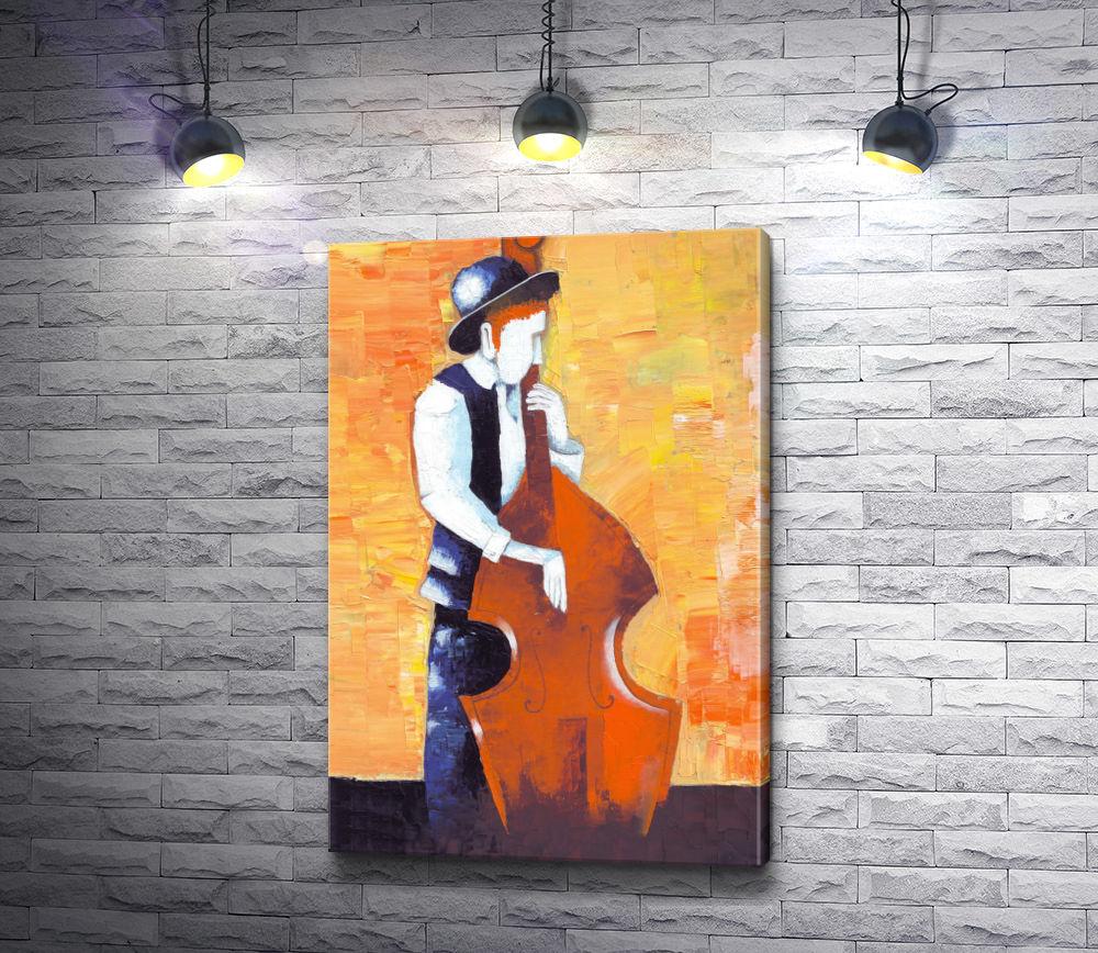 "Картина ""Безликий виолончелист """