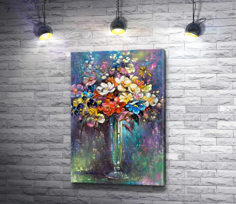 """Картина """"Букет весенних цветов в вазе """""""