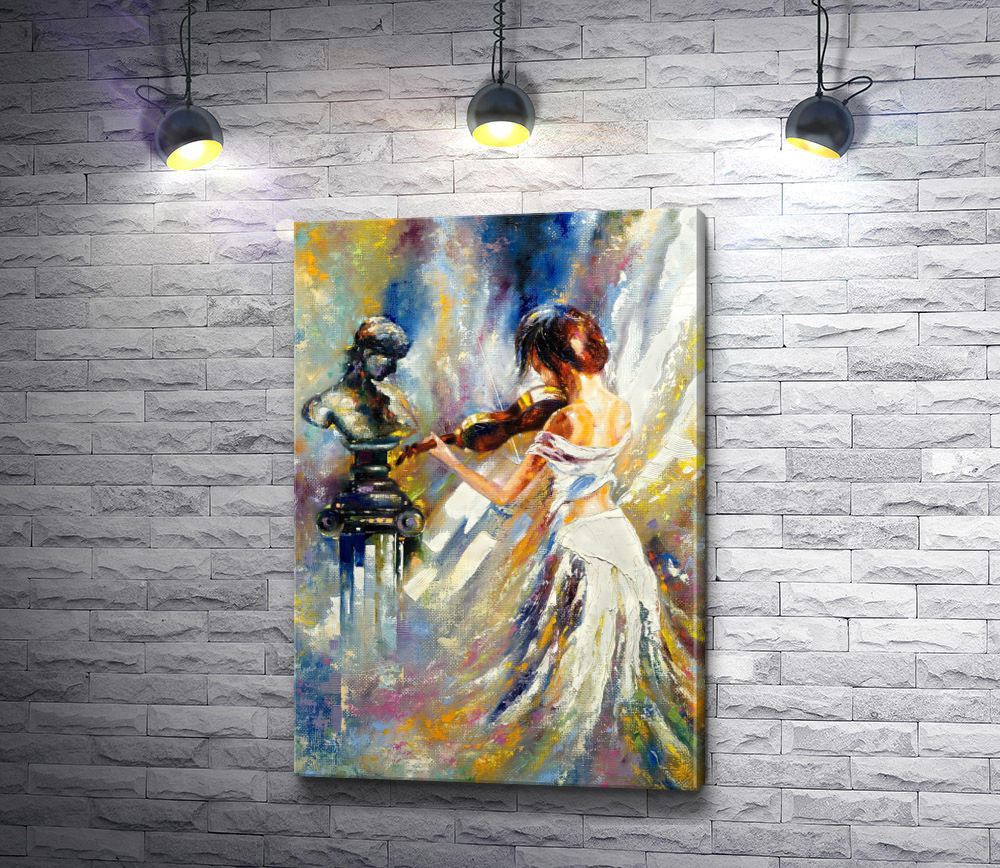 """Картина """"Девушка играет на скрипке """""""