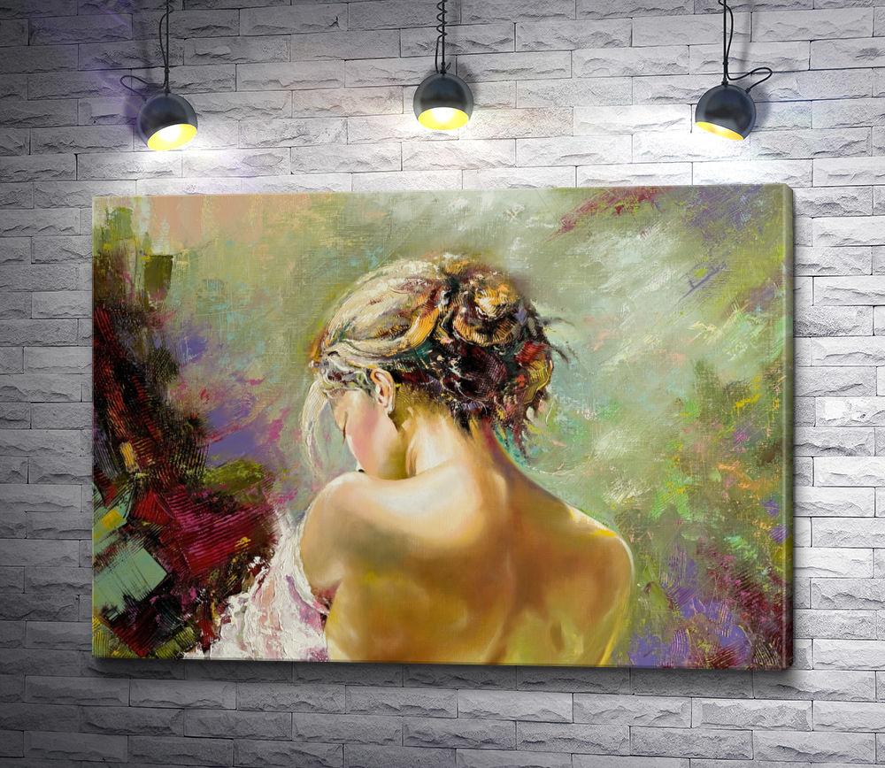 """Картина """"Девушка с обнаженной спиной"""""""