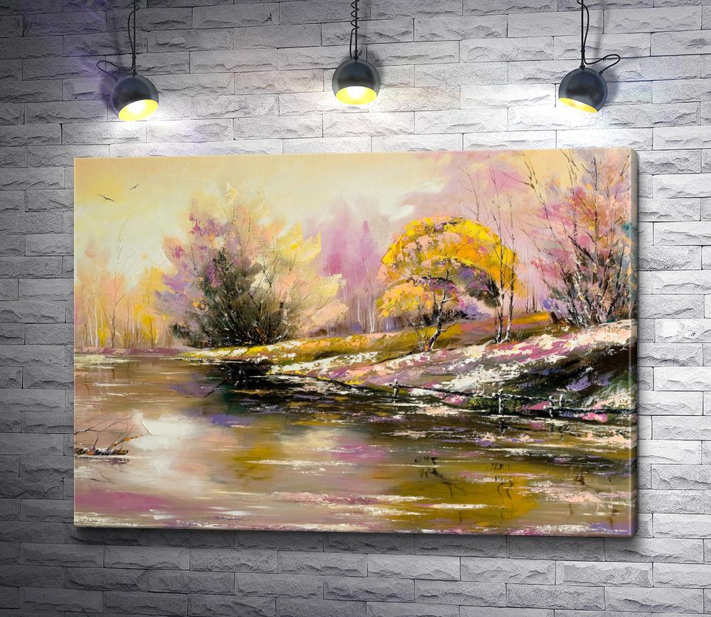 "Картина ""Озеро на окраине леса """