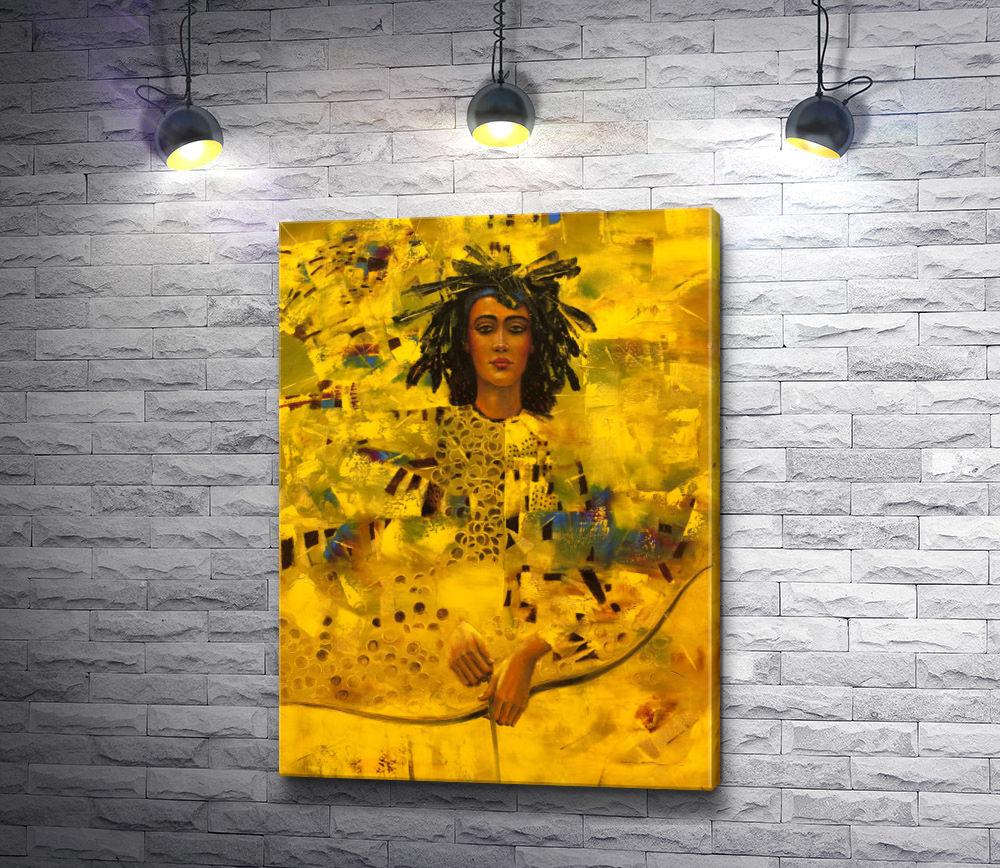 """Картина """"Портрет женщины с луком"""""""
