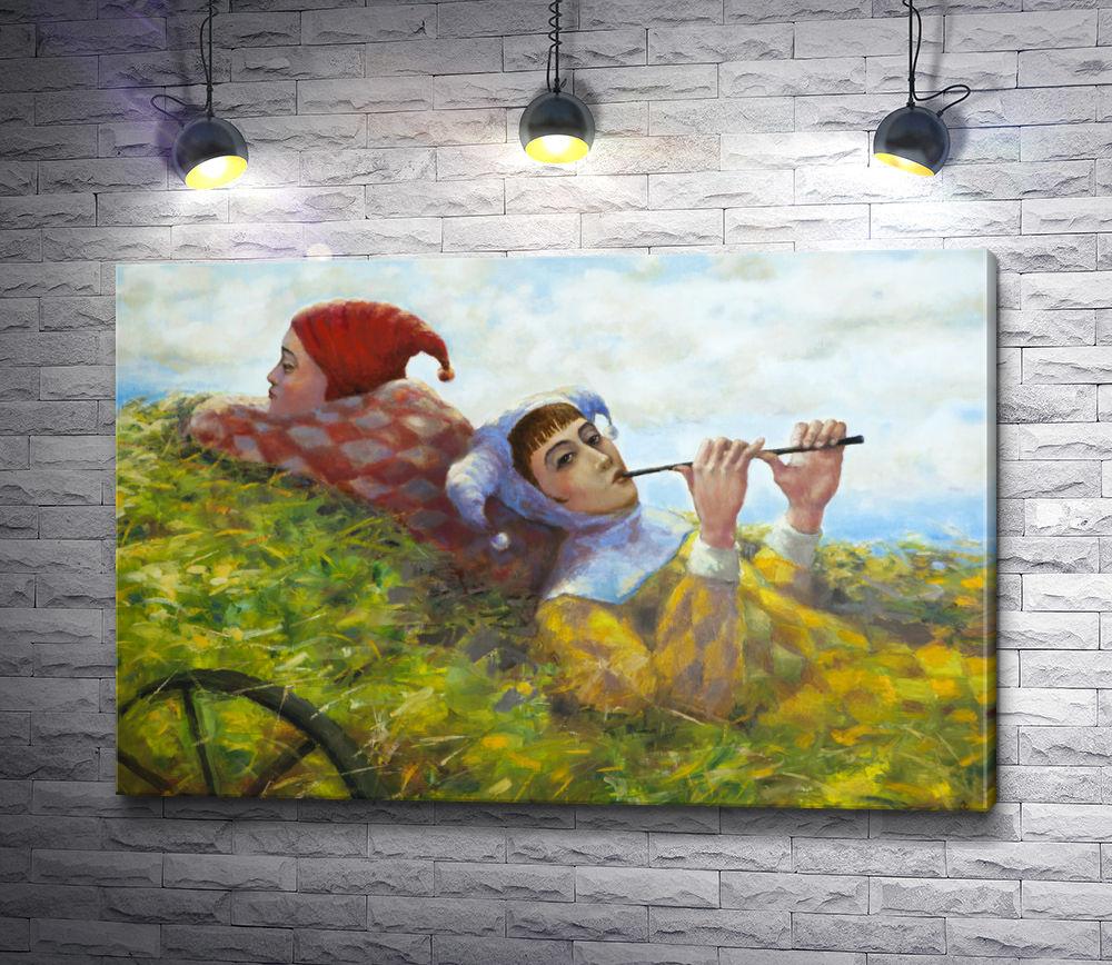 """Картина """"Шуты в телеге с травой"""""""