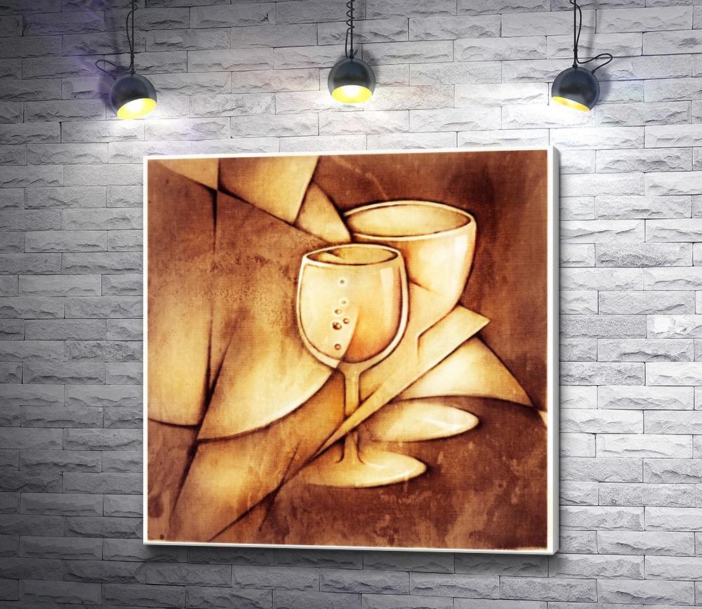 """Картина """"Натюрморт с винными бокалами"""""""