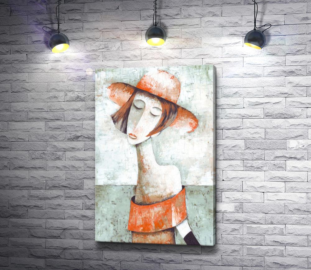 "Картина ""Дама в оранжевом"""