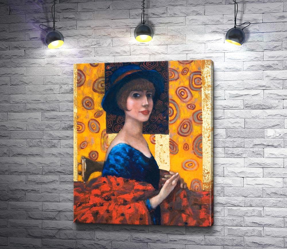 """Картина """"Лилия Кулианионак - Дама в шляпе"""""""