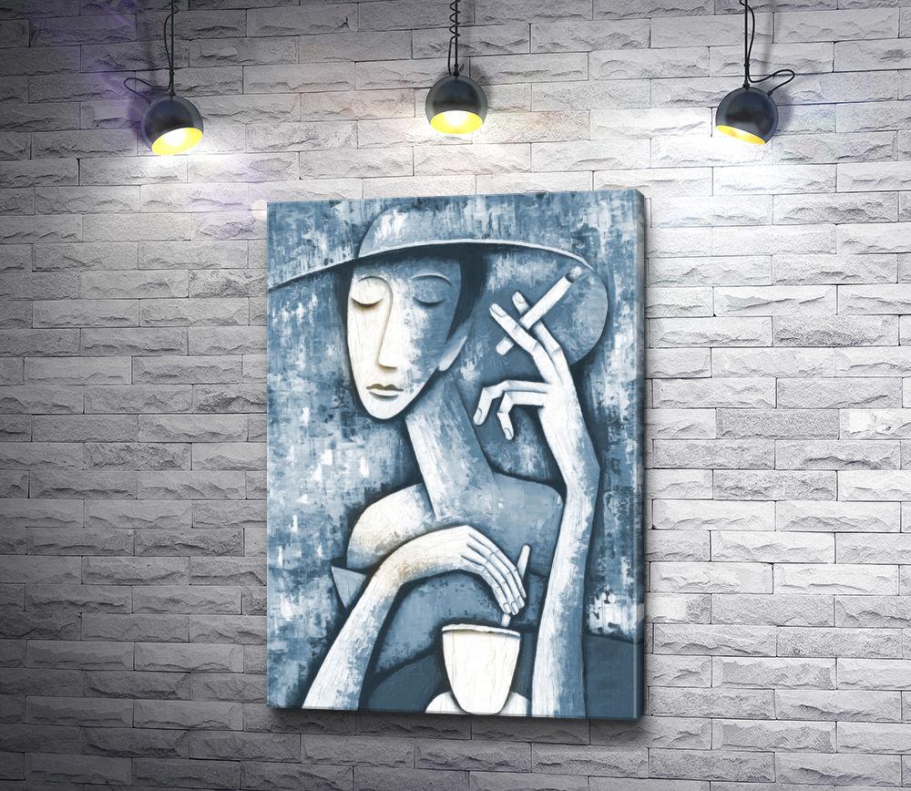 "Картина ""Леди в кафе"""