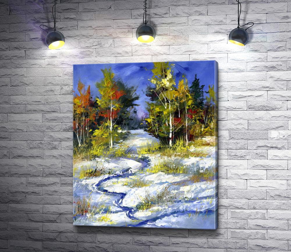 """Картина """"Зимний лес"""""""