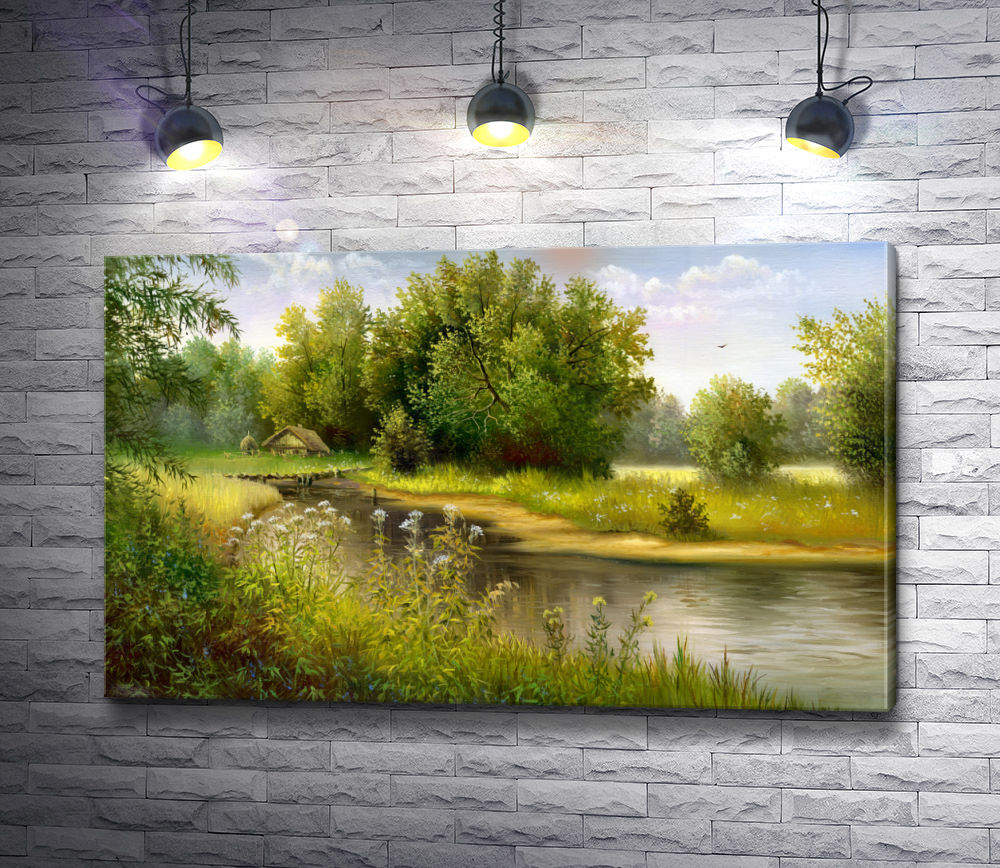 "Картина ""Летний день на речке"""