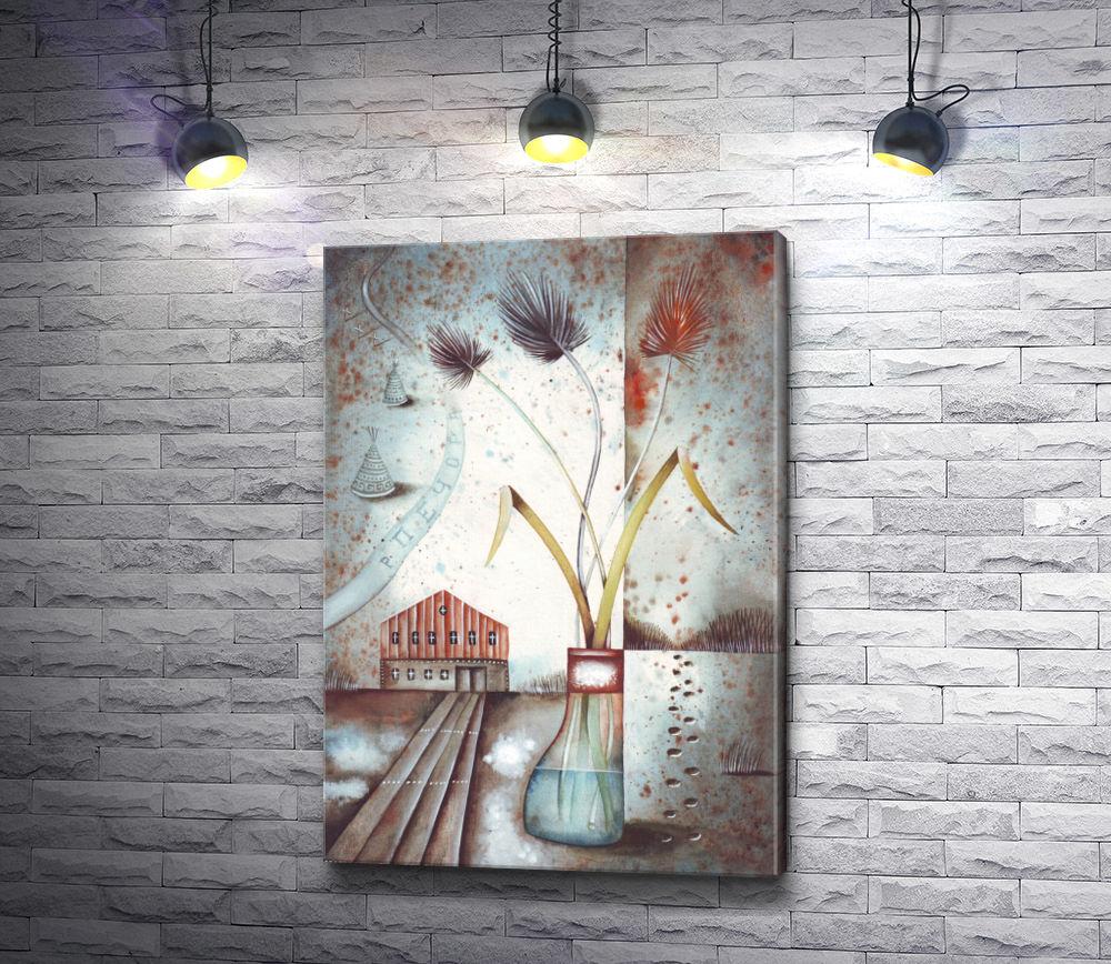 "Картина ""Стеклянная ваза с цветами"""
