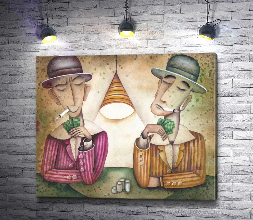 """Картина """"Два картежника. Иллюстрация к """"Партия в покер"""""""""""