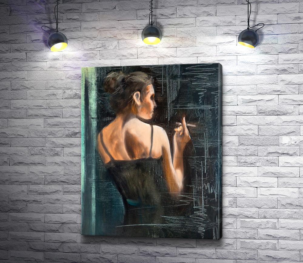 """Картина """"Портрет женщины с сигаретой"""""""