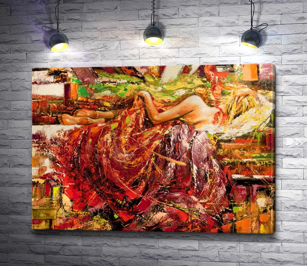 """Картина """"Спящая девушка с восточной шалью"""""""