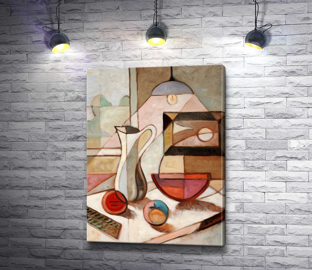 "Картина ""Натюрморт с кувшином и фруктами"""