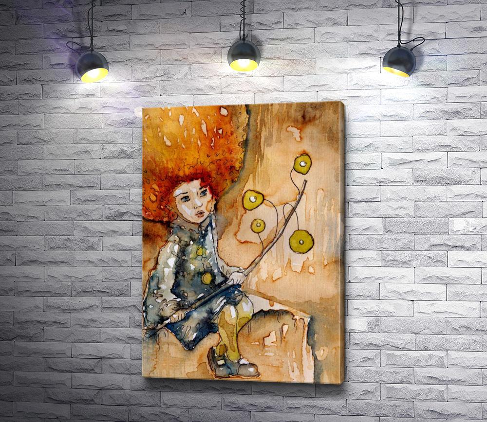 """Картина """"Рыжеволосая девочка с игрушкой"""""""