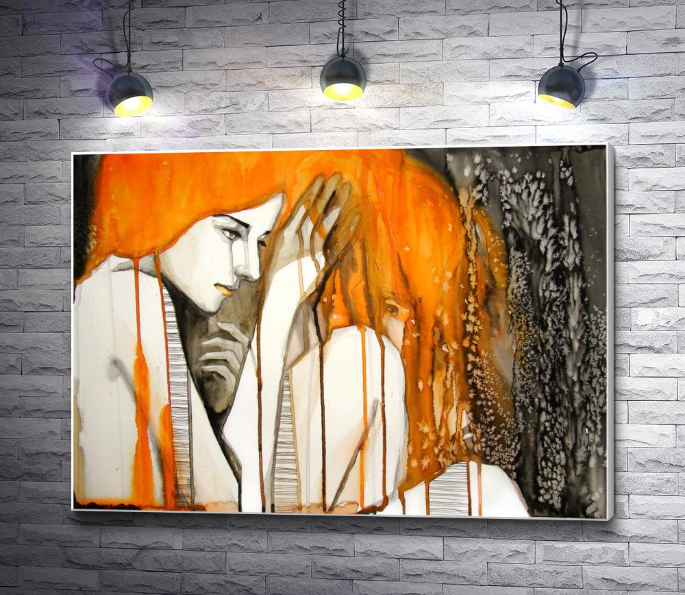 """Картина """"Обнаженная девушка с рыжими волосами"""""""
