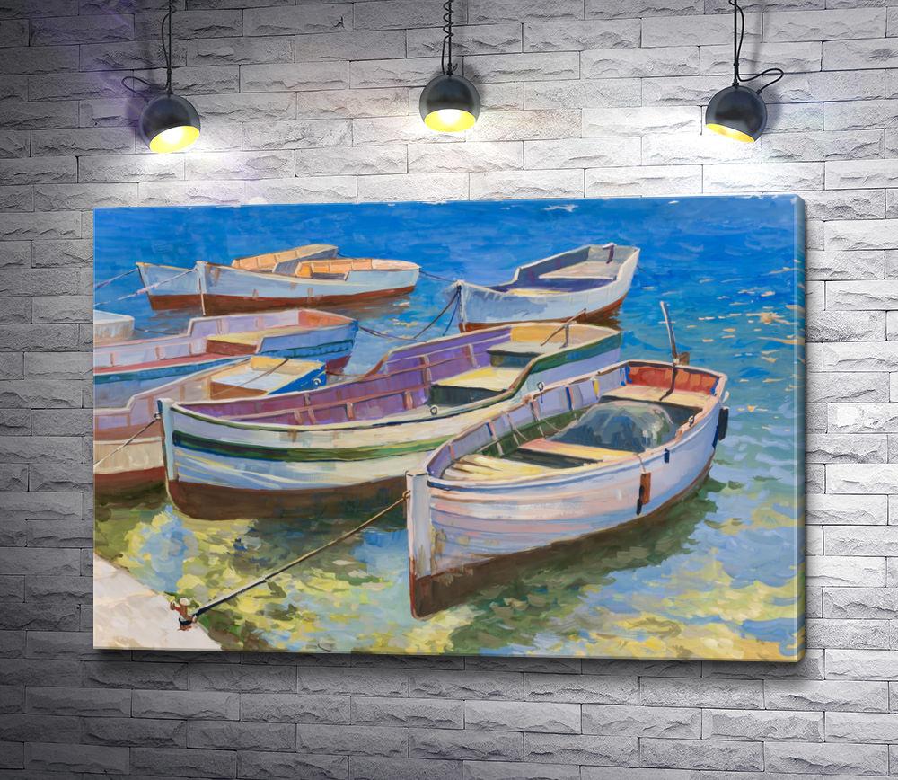 """Картина """"Лодки у причала"""""""