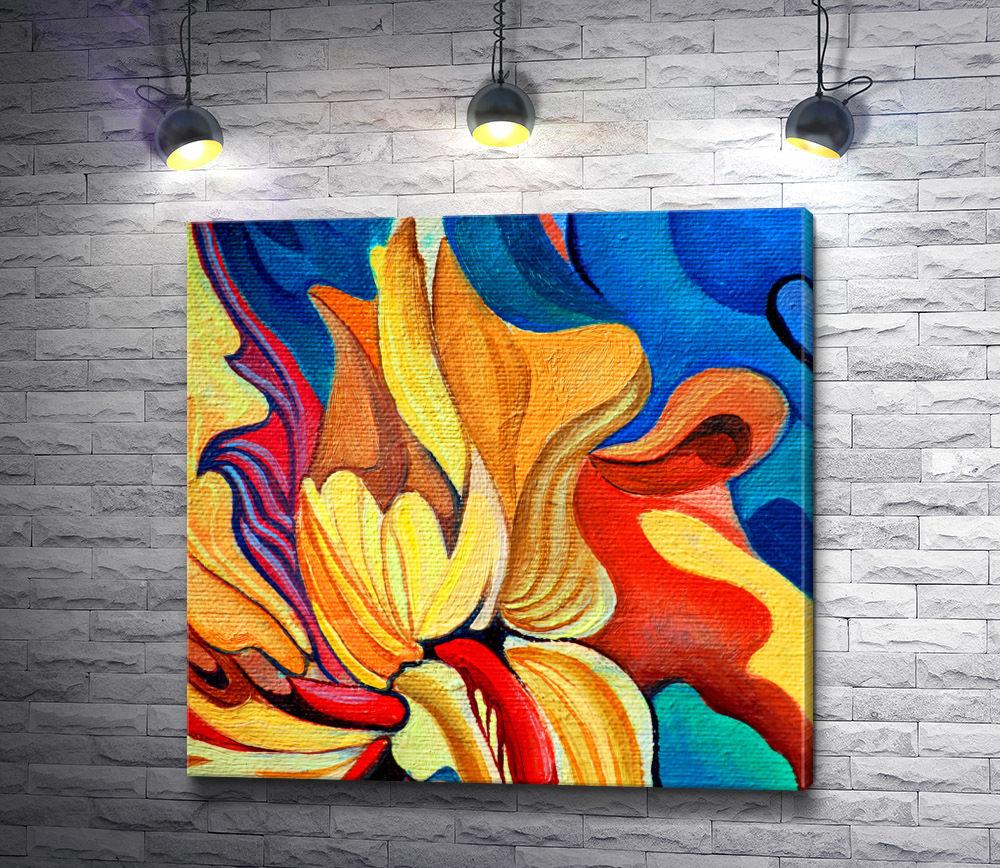 """Картина """"Лепестки огненного цветка"""""""