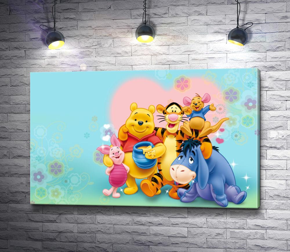 """Картина """"Винни-Пух с друзьями. Герои мультфильма Дисней"""""""