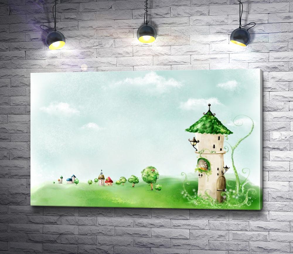 """Картина """"Сказочная башня в волшебной стране"""""""