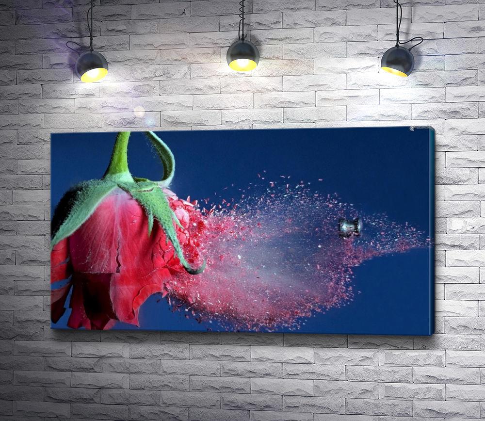 """Картина """"Выстрел в алую розу"""""""