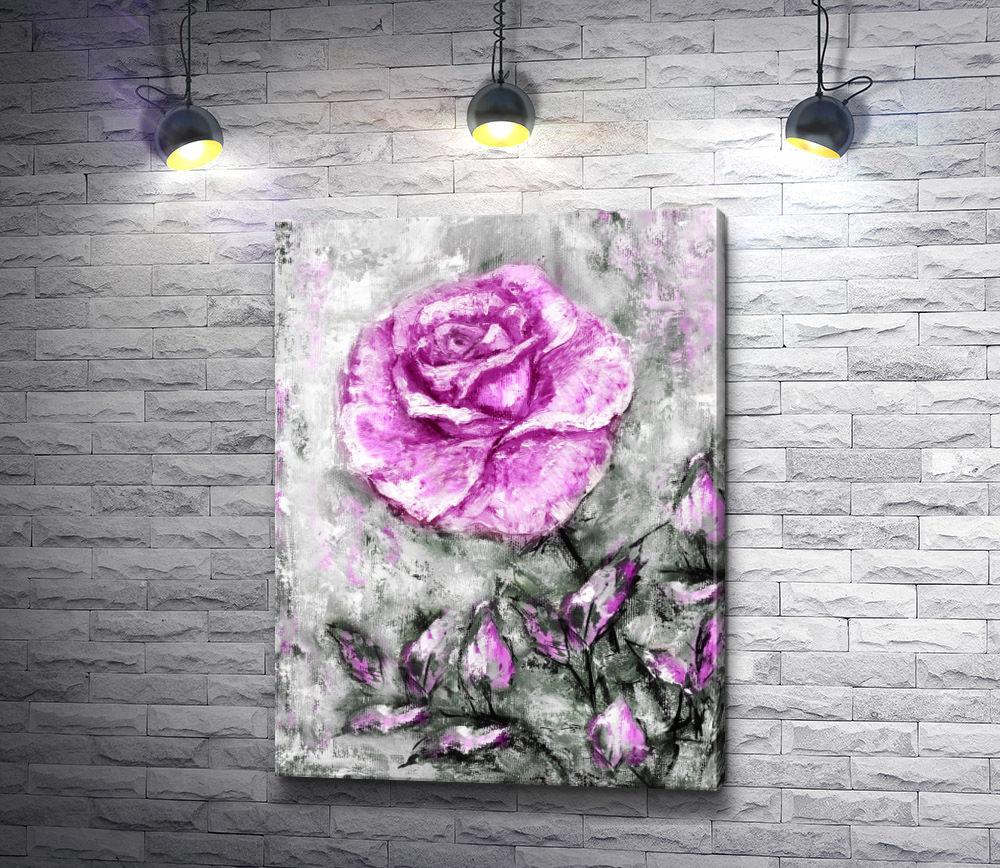 "Картина ""Лиловая роза"""