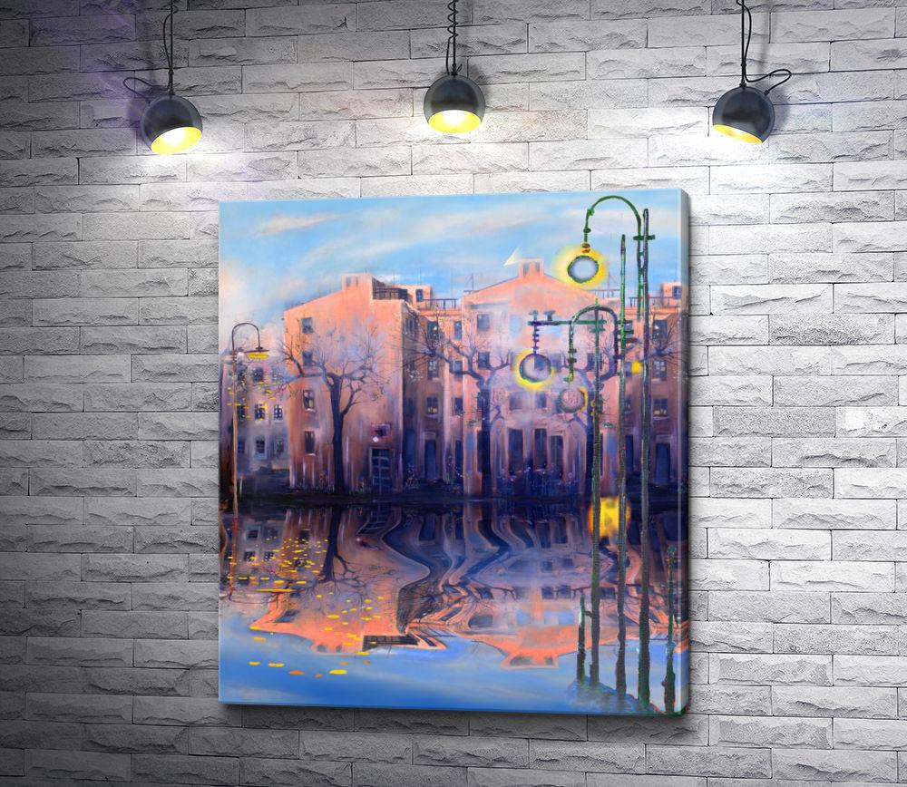 """Картина """"Городская улица после дождя"""""""
