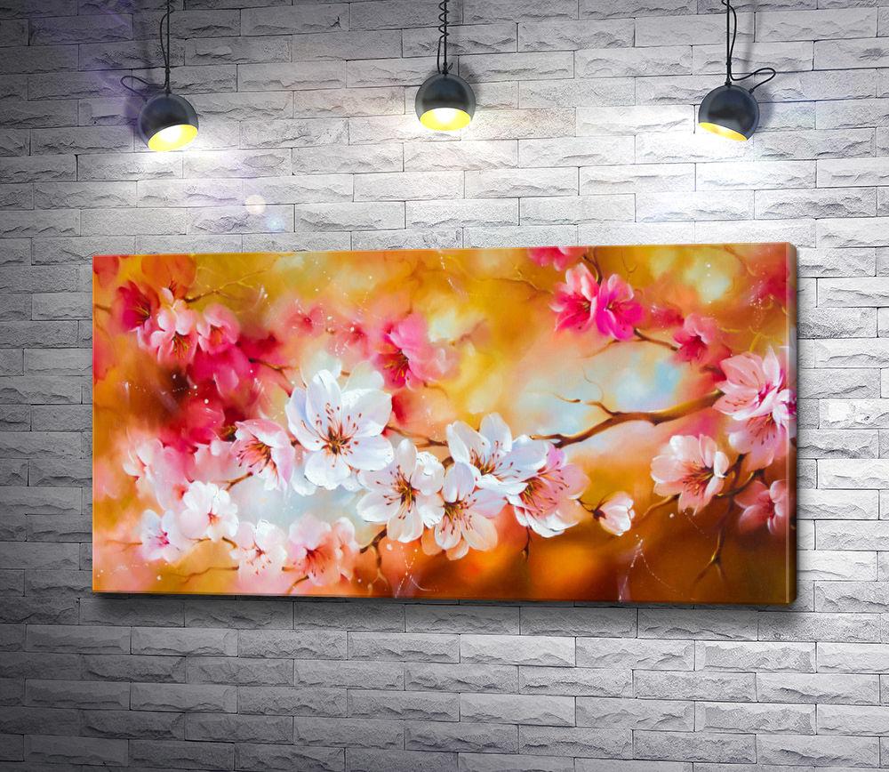 "Картина ""Ветка цветущей вишни"""
