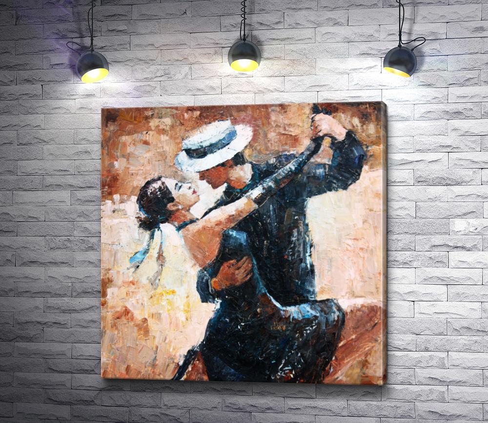 """Картина """"Танцоры танго в черных костюмах"""""""
