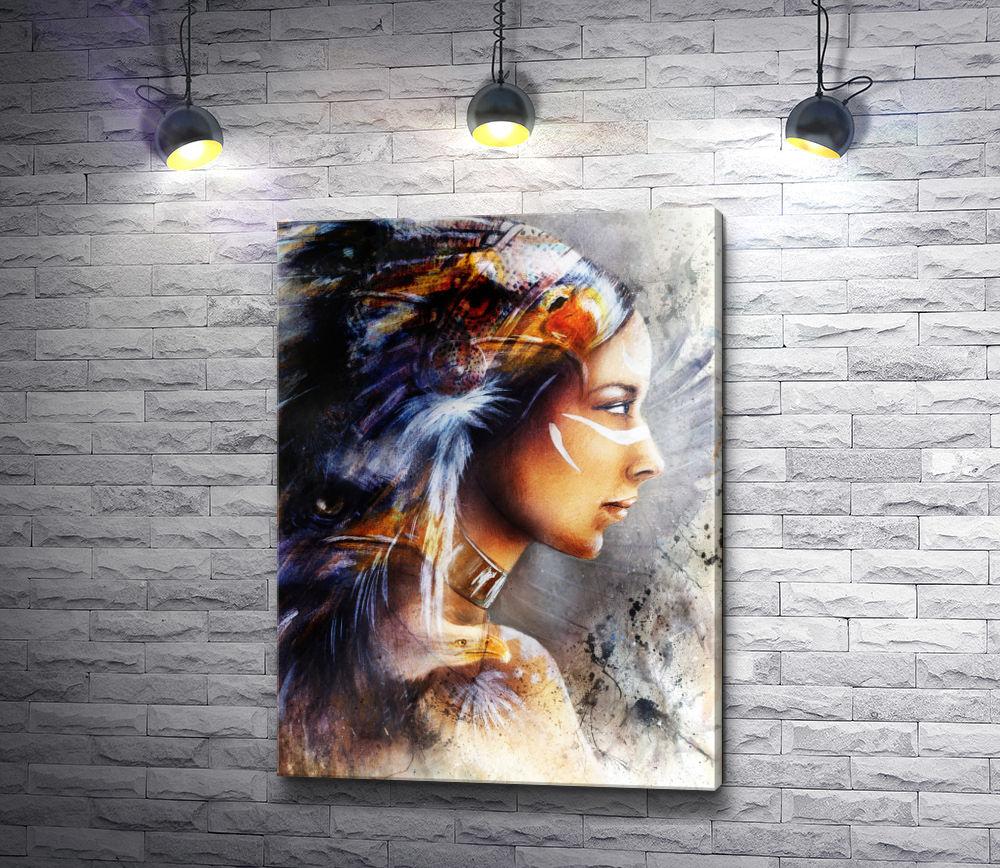 """Картина """"Профиль красивой индианки"""""""