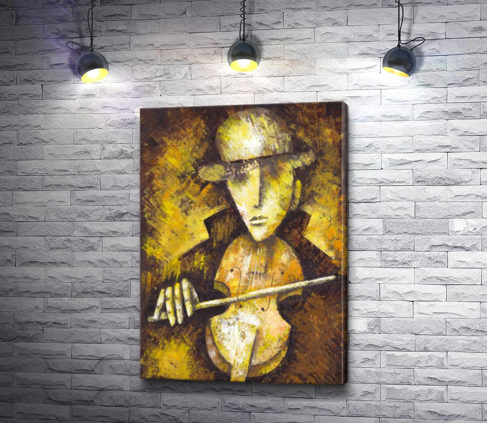 """Картина """"Мужчина со скрипкой"""""""