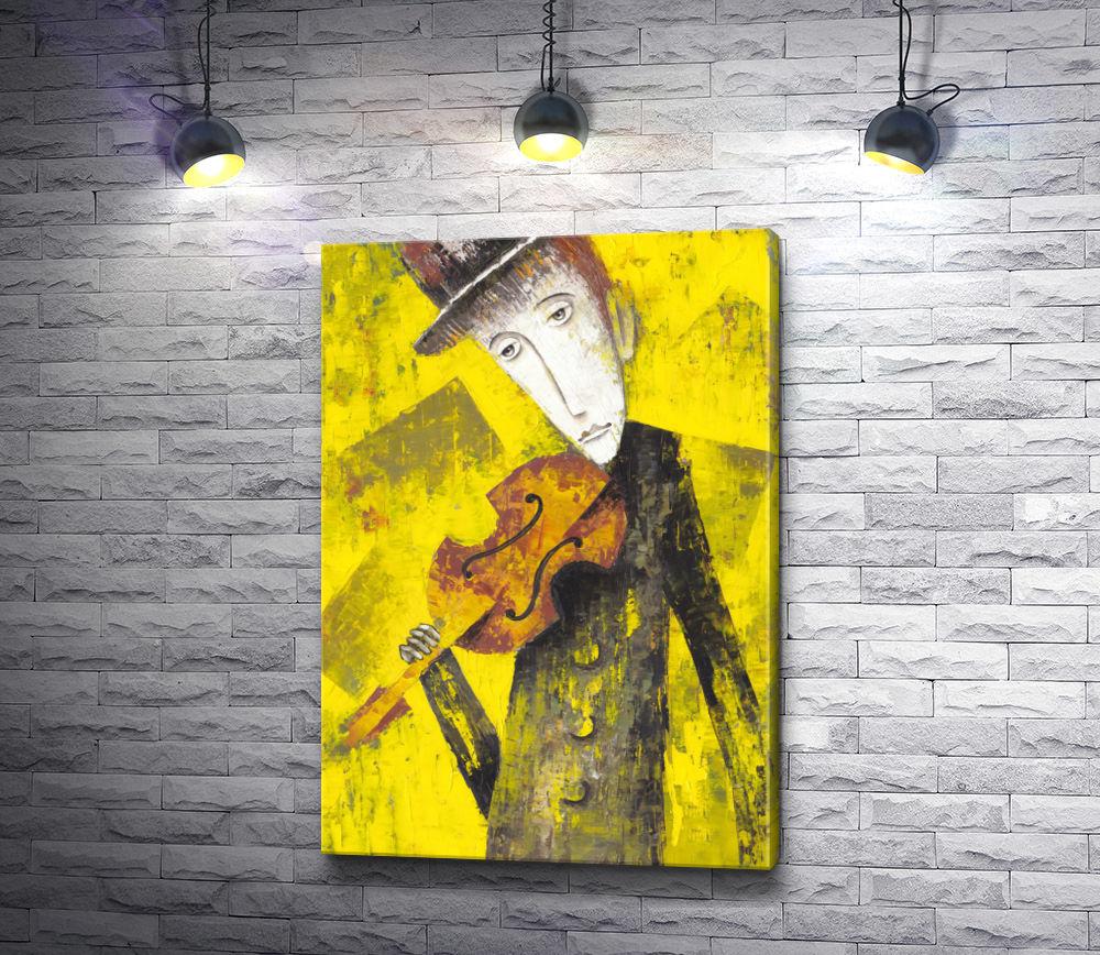 "Картина ""Мужчина и скрипка"""