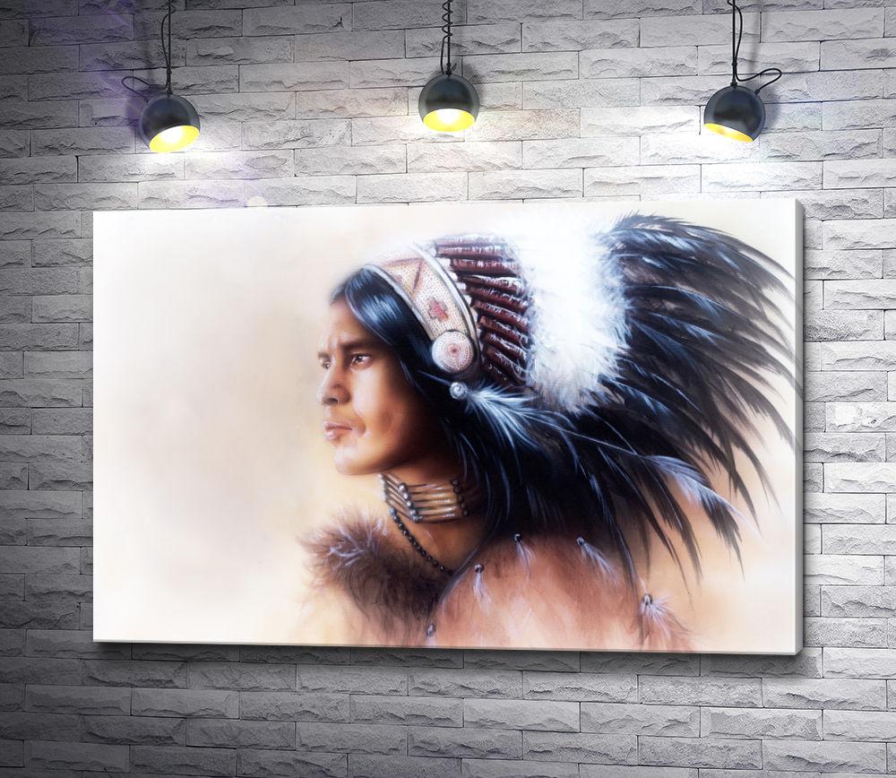"""Картина """"Профиль гордого индейца"""""""
