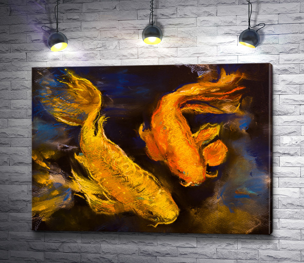 "Картина ""Две золотые рыбки"""
