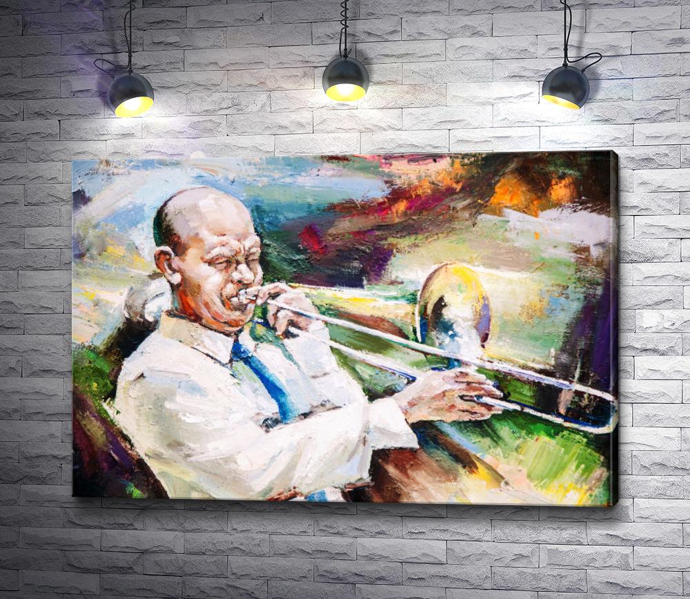 "Картина ""Трубач, играющий джаз"""