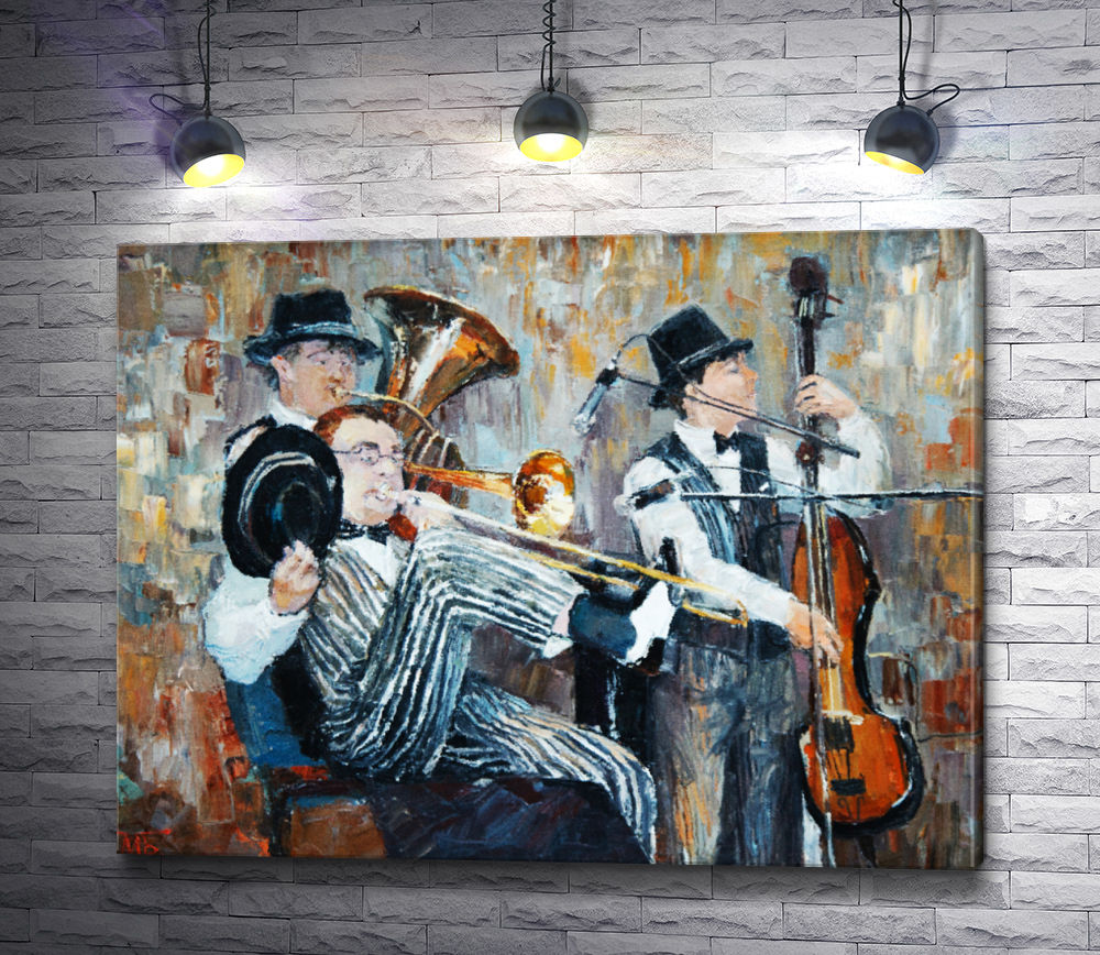 "Картина ""Трио исполняет джаз"""