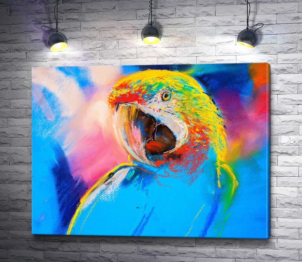 """Картина """"Разноцветный попугай """""""