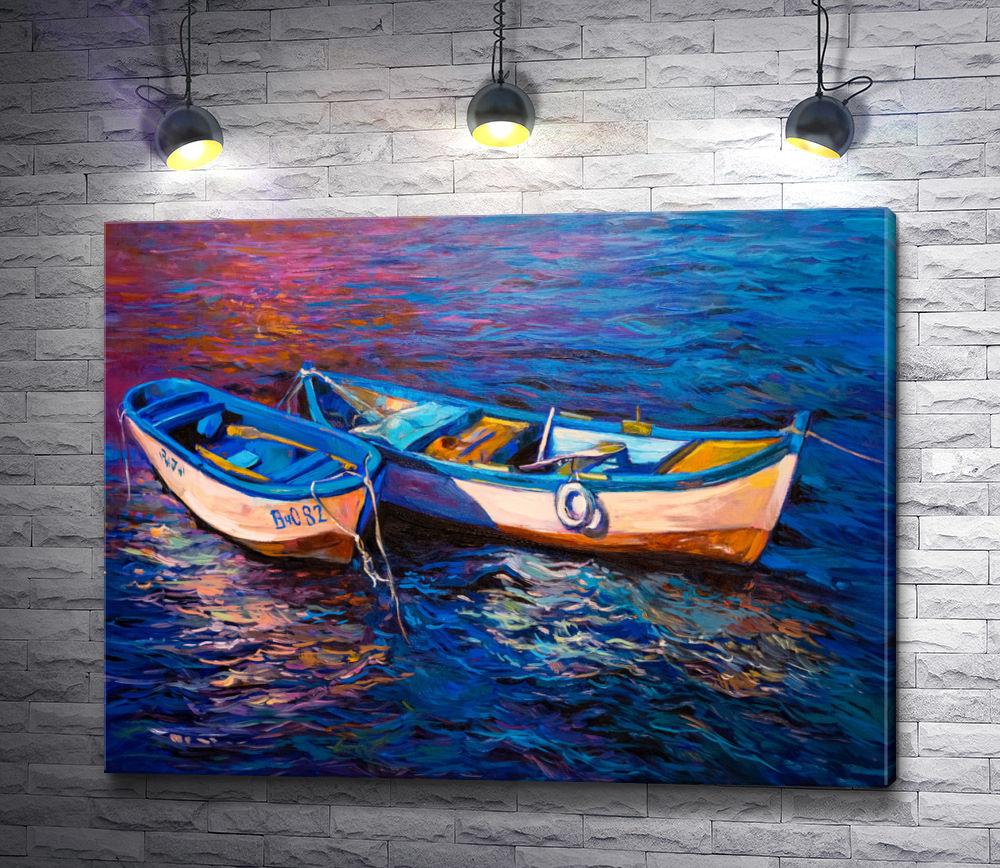 """Картина """"Две лодки на воде """""""