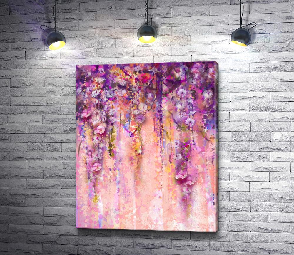 """Картина """"Вьющиеся цветы """""""