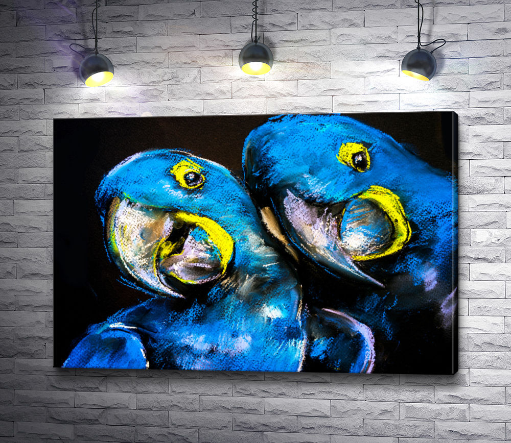"""Картина """"Синие попугаи"""""""